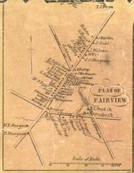 Fairview Village - Fairview Township, Pennsylvania 1855 Old Town Map Custom Print - Erie Co.