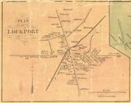 Lockport - Girard Township, Pennsylvania 1855 Old Town Map Custom Print - Erie Co.