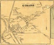 Girard Village - Girard Township, Pennsylvania 1855 Old Town Map Custom Print - Erie Co.