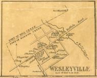 Wesleyville - Harbor Creek Township, Pennsylvania 1855 Old Town Map Custom Print - Erie Co.