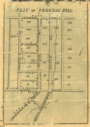 Federal Hill - Mill Creek Township, Pennsylvania 1855 Old Town Map Custom Print - Erie Co.