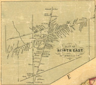 North East Village - North East Township, Pennsylvania 1855 Old Town Map Custom Print - Erie Co.
