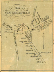 West Springfield - Springfield Township, Pennsylvania 1855 Old Town Map Custom Print - Erie Co.