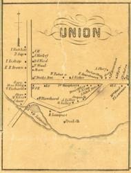 Union Village - Union Township, Pennsylvania 1855 Old Town Map Custom Print - Erie Co.