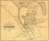Edinboro - Washington Township, Pennsylvania 1855 Old Town Map Custom Print - Erie Co.