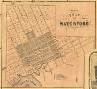 Waterford Village - Waterford Township, Pennsylvania 1855 Old Town Map Custom Print - Erie Co.