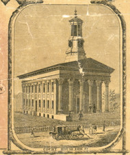 Court House - Erie City , Pennsylvania 1855 Old Town Map Custom Print - Erie Co.