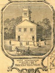 West Springfield Academy - Erie City , Pennsylvania 1855 Old Town Map Custom Print - Erie Co.