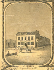 Eagle Hotel - Waterford Township, Pennsylvania 1855 Old Town Map Custom Print - Erie Co.