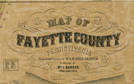 Title of Source Map - Fayette Co., Pennsylvania 1858 - NOT FOR SALE - Fayette Co.