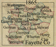 Towns on Source Map - Fayette Co., Pennsylvania 1865 - NOT FOR SALE - Fayette Co.