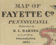Title of Source Map - Fayette Co., Pennsylvania 1865 - NOT FOR SALE - Fayette Co.