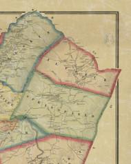 Atlick Township, Pennsylvania 1865 Old Town Map Custom Print - Fayette Co.