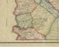 Nicholson Township, Pennsylvania 1865 Old Town Map Custom Print - Fayette Co.