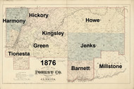 Towns on Source Map - Forest Co., Pennsylvania 1876 - NOT FOR SALE - Forest Co.