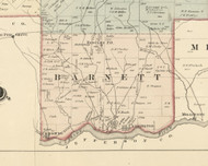 Barnett Township, Pennsylvania 1876 Old Town Map Custom Print - Forest Co.