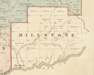 Millstone Township, Pennsylvania 1876 Old Town Map Custom Print - Forest Co.