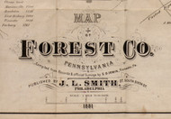 Title of Source Map - Forest Co., Pennsylvania 1881 - NOT FOR SALE - Forest Co.