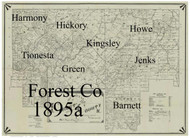 Towns on Source Map - Forest Co., Pennsylvania 1895 - NOT FOR SALE - Forest Co.