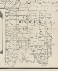 Barnett Township, Pennsylvania 1895 Old Town Map Custom Print - Forest Co.