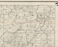 Howe Township, Pennsylvania 1895 Old Town Map Custom Print - Forest Co.
