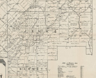 Jenks Township, Pennsylvania 1895 Old Town Map Custom Print - Forest Co.