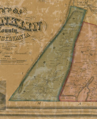 Warren Township, Pennsylvania 1858 Old Town Map Custom Print - Franklin Co.