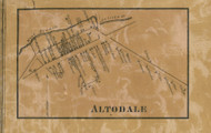 Altodale - Franklin Co., Pennsylvania 1858 Old Town Map Custom Print - Franklin Co.