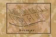 Boxbury - Franklin Co., Pennsylvania 1858 Old Town Map Custom Print - Franklin Co.