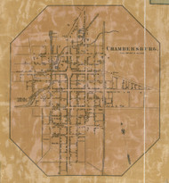 Chambersburg - Franklin Co., Pennsylvania 1858 Old Town Map Custom Print - Franklin Co.