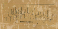 Fannetsburg - Franklin Co., Pennsylvania 1858 Old Town Map Custom Print - Franklin Co.
