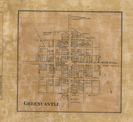 Greencastle - Franklin Co., Pennsylvania 1858 Old Town Map Custom Print - Franklin Co.