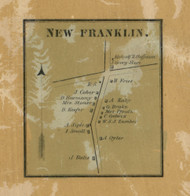 New Franklin - Franklin Co., Pennsylvania 1858 Old Town Map Custom Print - Franklin Co.