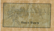 Orrs Town - Franklin Co., Pennsylvania 1858 Old Town Map Custom Print - Franklin Co.