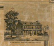 Franklin Hotel John Riley - Franklin Co., Pennsylvania 1858 Old Town Map Custom Print - Franklin Co.