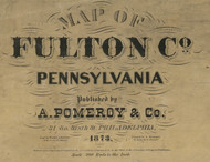 Title of Source Map - Fulton Co., Pennsylvania 1873 - NOT FOR SALE - Fulton Co.