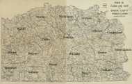 Towns on Source Map - Greene Co., Pennsylvania 1897 - NOT FOR SALE - Greene Co.