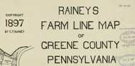Title of Source Map - Greene Co., Pennsylvania 1897 - NOT FOR SALE - Greene Co.