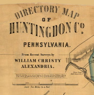 Title of Source Map - Huntingdon Co., Pennsylvania 1856 - NOT FOR SALE - Huntingdon Co.