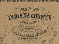 Title of Source Map - Indiana Co., Pennsylvania 1856 - NOT FOR SALE - Indiana Co.