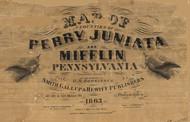Title of Source Map - Juniata Co., Pennsylvania 1863 - NOT FOR SALE - Juniata Co.