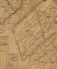 Lack Township, Pennsylvania 1863 Old Town Map Custom Print - Juniata Co.