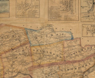 Monroe Township, Pennsylvania 1863 Old Town Map Custom Print - Juniata Co.