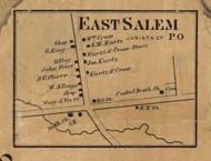 East Salem - Juniata Co., Pennsylvania 1863 Old Town Map Custom Print - Juniata Co.