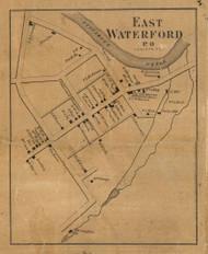 East Waterford - Juniata Co., Pennsylvania 1863 Old Town Map Custom Print - Juniata Co.