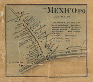 Mexico - Juniata Co., Pennsylvania 1863 Old Town Map Custom Print - Juniata Co.