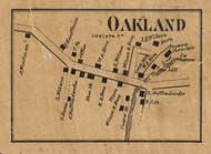 Oakland - Juniata Co., Pennsylvania 1863 Old Town Map Custom Print - Juniata Co.