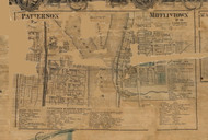 Patteron and Mifflintown - Juniata Co., Pennsylvania 1863 Old Town Map Custom Print - Juniata Co.