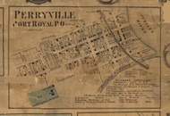 Perryville, or Port Royal - Juniata Co., Pennsylvania 1863 Old Town Map Custom Print - Juniata Co.
