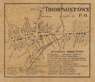 Thompsontown - Juniata Co., Pennsylvania 1863 Old Town Map Custom Print - Juniata Co.